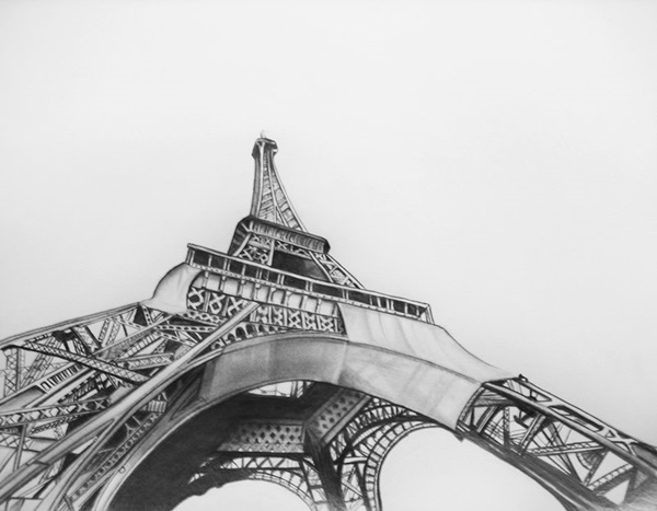beautiful and detailed Eiffel Tower drawings - (29)