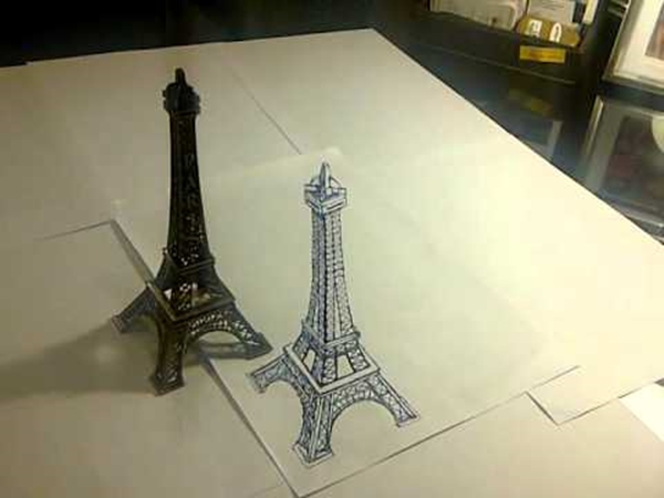 beautiful and detailed Eiffel Tower drawings - (34)