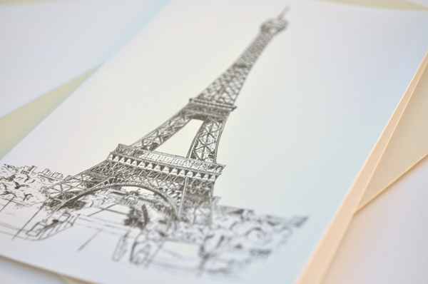 beautiful and detailed Eiffel Tower drawings - (36)
