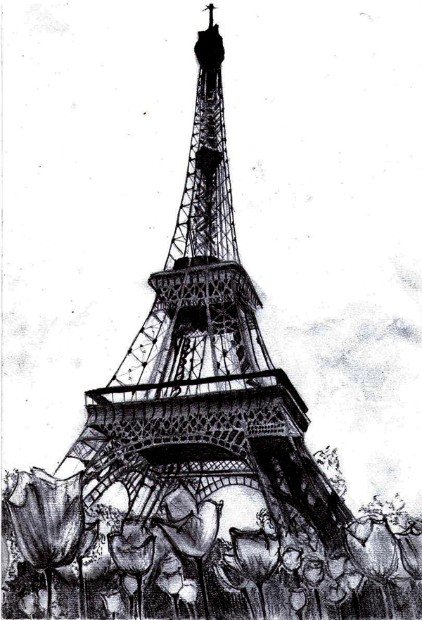 beautiful and detailed Eiffel Tower drawings - (39)