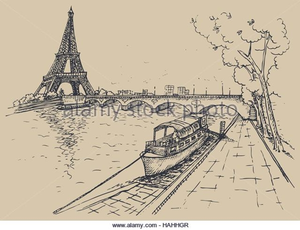 beautiful and detailed Eiffel Tower drawings - (40)