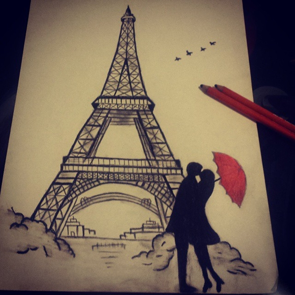 beautiful and detailed Eiffel Tower drawings - (5)