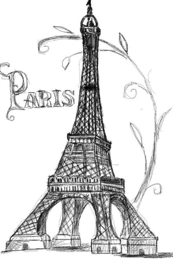 beautiful and detailed Eiffel Tower drawings - (8)