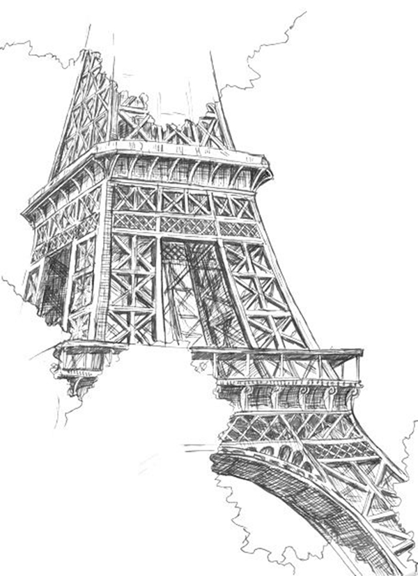 beautiful and detailed Eiffel Tower drawings - (9)