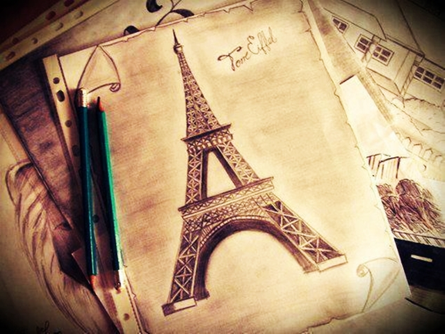 40 Most Beautiful and Detailed Eiffel Tower Drawings