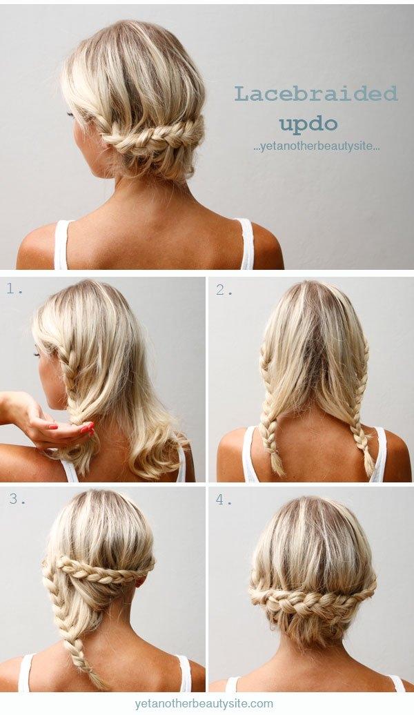 Повседневная прическа на волосы до плеч в домашних условиях