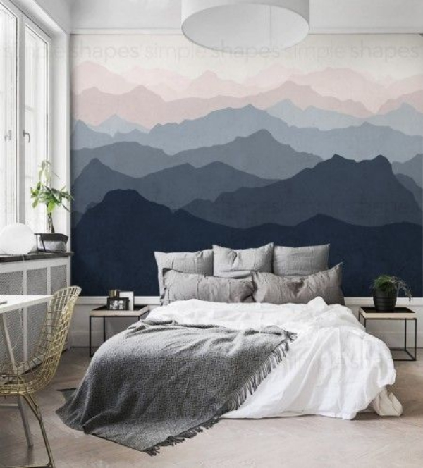 40 abstract wall painting ideas for a more artistically for Bedroom mural painting