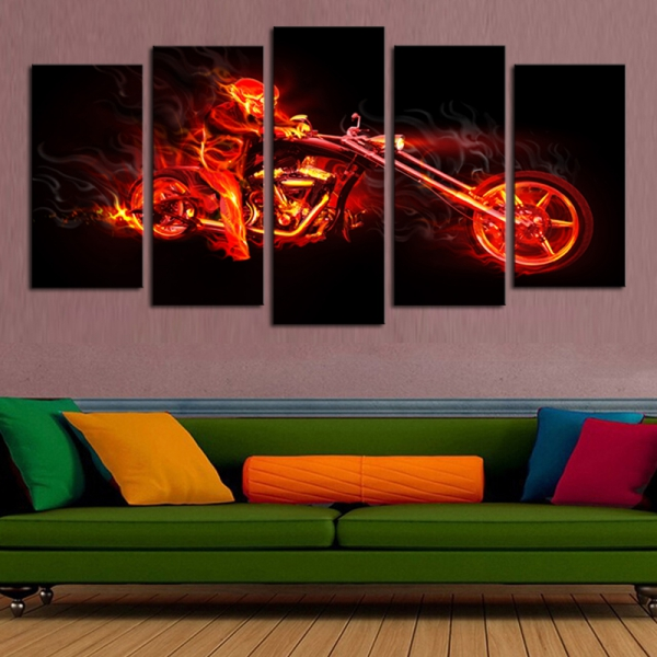 Abstract Wall Painting Ideas For A More Artistically Rich Look - Black canvas painting ideas