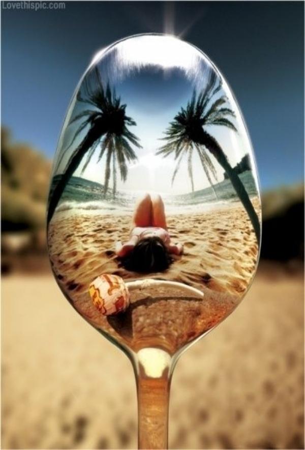 reflection beach lander glass summer spoon examples adrian wine creative cool photographer chupa ocean shot reflections chup cute sea angry