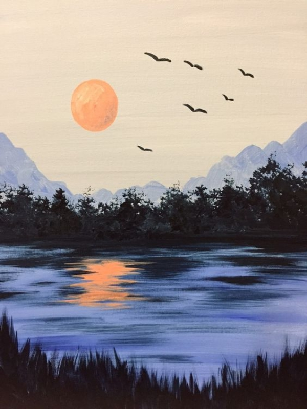 Simple-and-Easy-landscape-painting-ideas-34