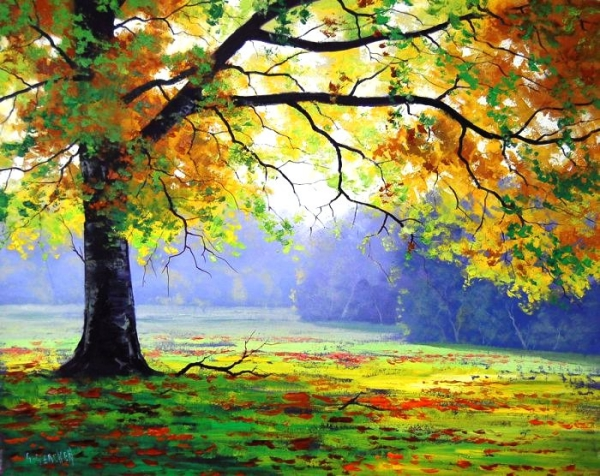 40 simple and easy landscape painting ideas