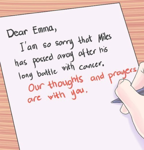what to write in a sympathy letter