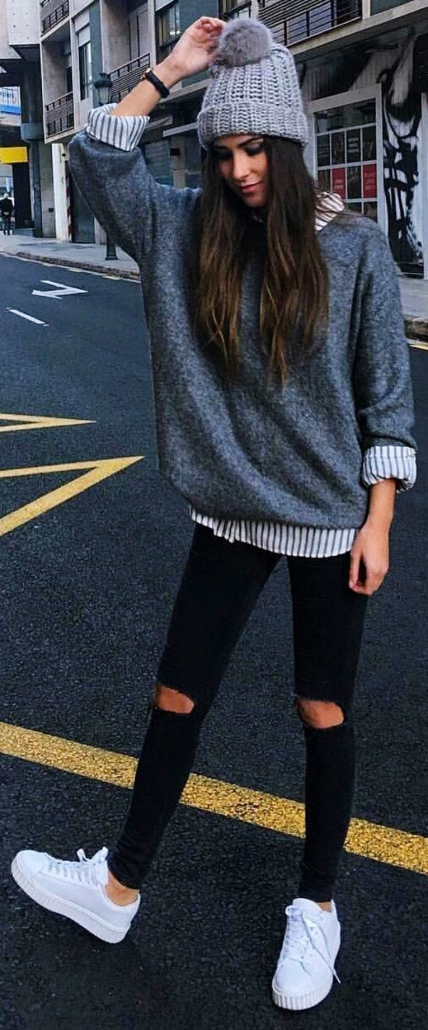 Off-to-Work-Oversized-Sweater-Outfits