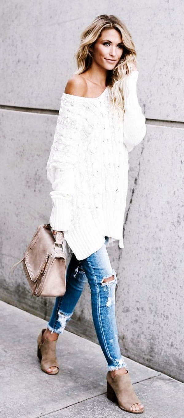 White Oversized Shirt Womens