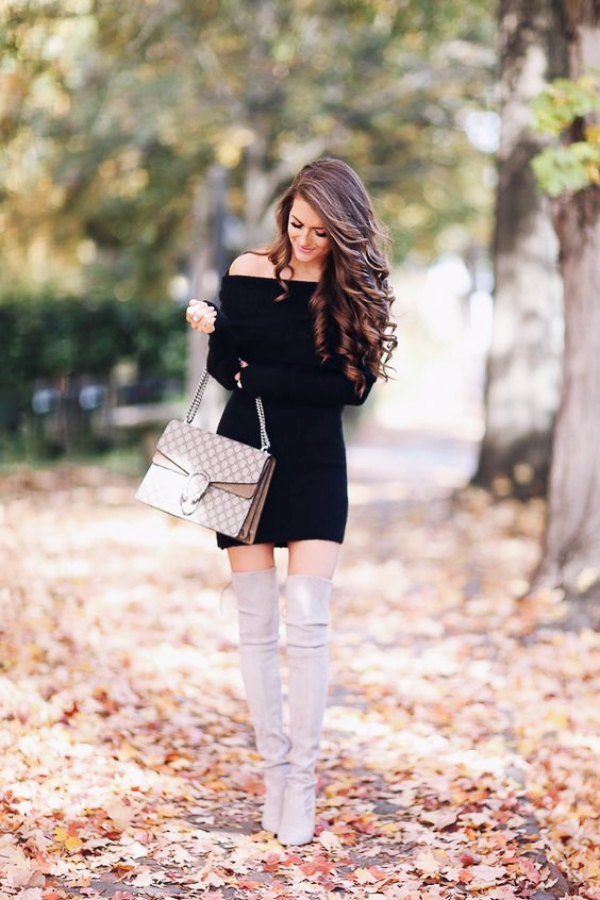 Sexy Off Shoulder Winter Outfits to Bend the Trend