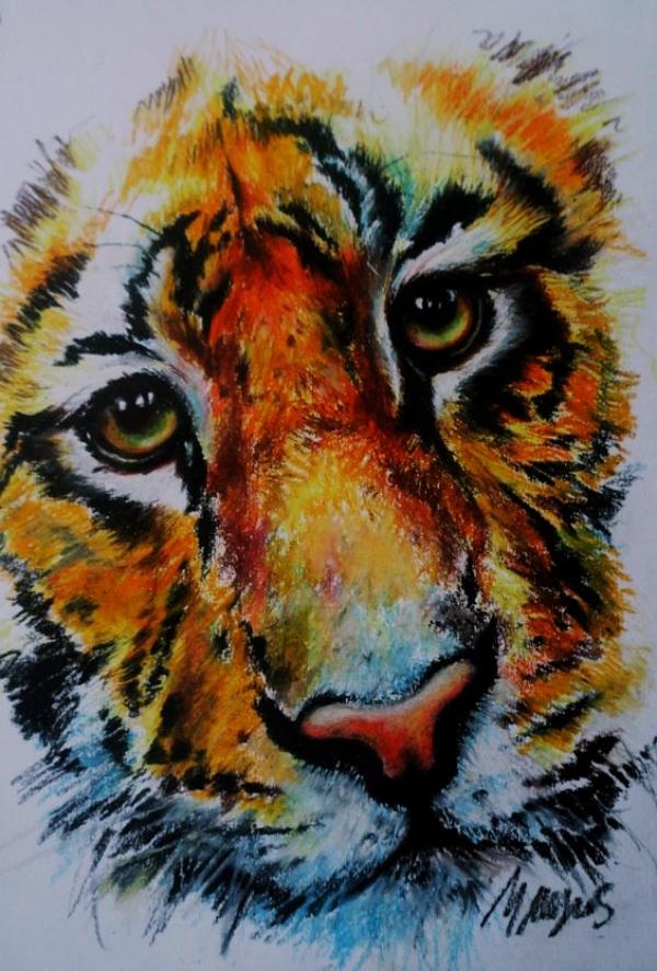 30 God Level Oil Pastel Drawings