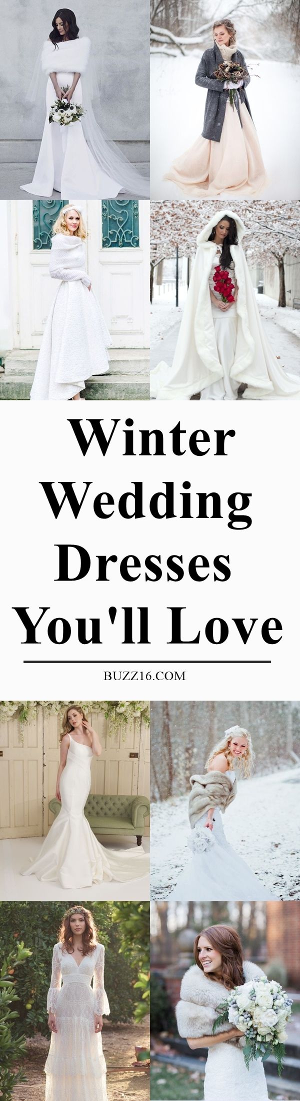40 Winter Wedding Dresses You'll Love