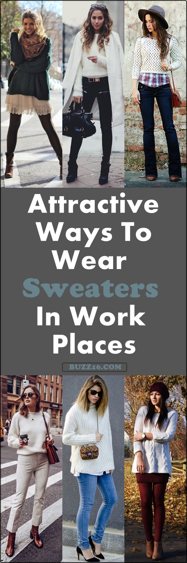 40 Attractive Ways to Wear Sweater in Work Places