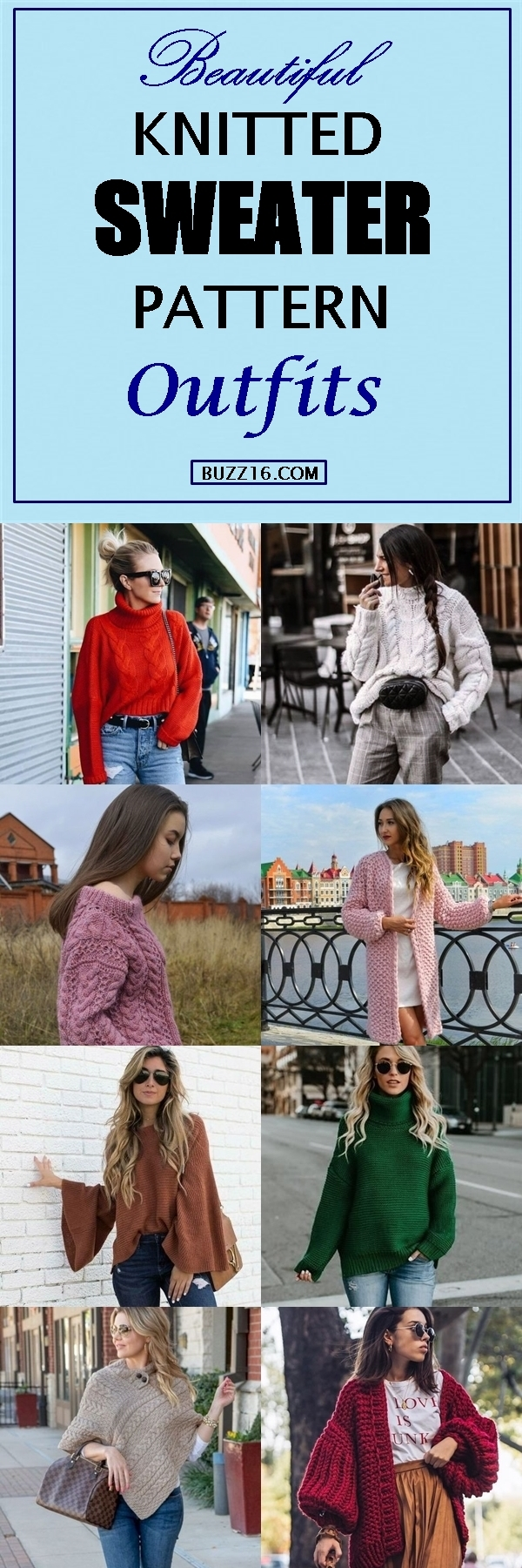 40 Beautiful Knitted Sweater Pattern Outfits 2019
